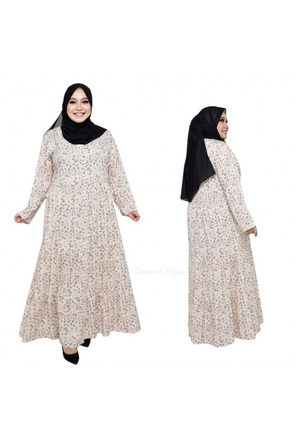 Amoree Floral Button Layer Fit XL~ 3XL (30074-1)